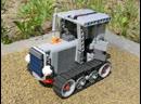 Гусеничный трактор Федя Lego Technic crawler caterpillar tractor