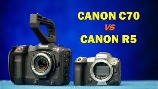 Canon C70 vs Canon R5 - тесты видео
