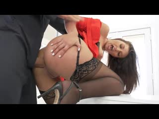 Bella Rolland - Gets The Janitor To  Style  (720p)
