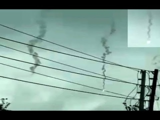 Large SLOW Moving FIREBALL DEBRIS caught falling through DAYTIME SKY!! Came out of NOWHERE!