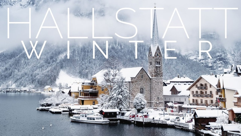 AUSTRIA WINTER Piano Relaxing Music HALLSTATT VILLAGE in the background 4K Quality Sound