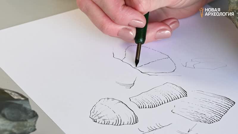 Археологический рисунок Штриховка различных каменных поверхностей Урок 2