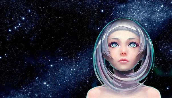 Обои Девушка Космос