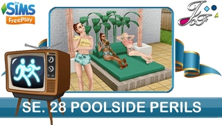 Sims FreePlay 🏃♀️📺| SIMCHASE 28 | POOLSIDE PERILS | (Early Access) 🔑