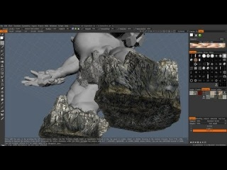 Session #11.2. Modelling* a 3D Monster Character. Part 9. Painting the textures