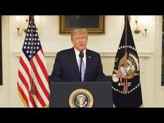 Трамп вернулся в твиттер и запостил новое видео. Пыл ушел, теперь Дональд за мир.