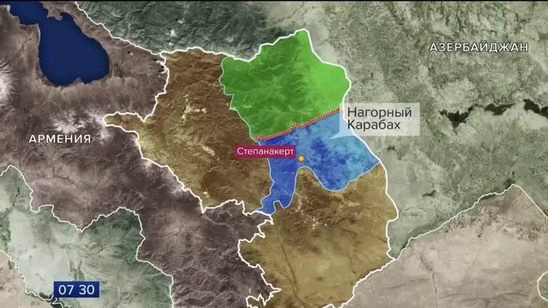 Российские миротворцы установили наблюдательные посты по девять в зонах ответственности Юг и Север и семь в Лачинском коридор